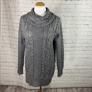 Zara grey cowl sweater